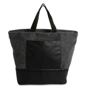 DSW Gray Wool Felt Tote Bag BNWT
